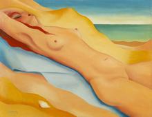 Félix LABISSE - Peinture - Sur la plage