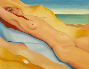 Félix LABISSE - Painting - Sur la plage