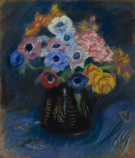 Charles CAMOIN - Dibujo Acuarela - Bouquet d'anémones