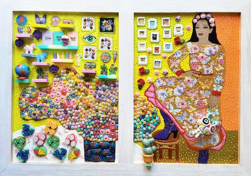 Irina BAST - Skulptur Volumen - Mexican woman in window