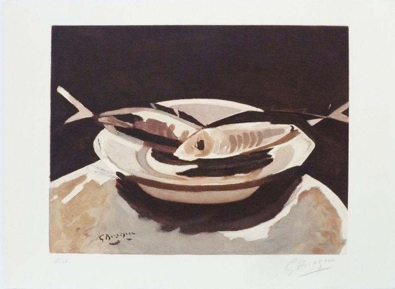 Georges BRAQUE - Grabado - Les Poissons