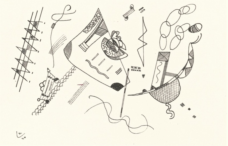 Wassily KANDINSKY - Drawing-Watercolor - Sans titre