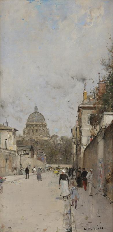 Luigi LOIR - Pittura - le Dôme de l'église du Val de Grace