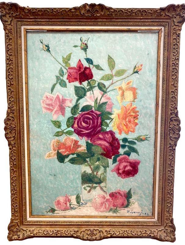 Achille LAUGÉ - Peinture - Bouquet de roses