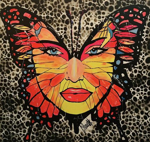 CLEMS - Gemälde - Butterfly Woman