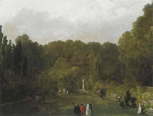 Hubert ROBERT - Painting - La Promenade Galante