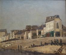 "Armand GUILLAUMIN - Peinture - ""Bord de Seine"" ( Bercy) c1860-1870."