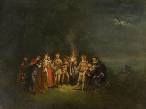 Christian DIETRICY - Gemälde - Italian Comedy, italienische Comödie
