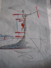 Salvador DALI - Estampe-Multiple - La Femme dans le Cosmos (Woman in Cosmos)