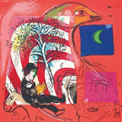 Marc CHAGALL - Grabado - The Rainbow
