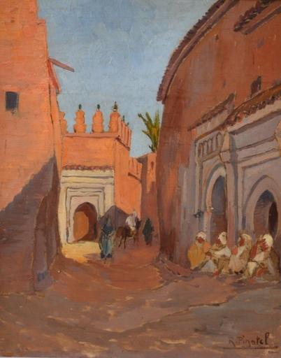 Raphaël PINATEL - Peinture - Rue au Maroc