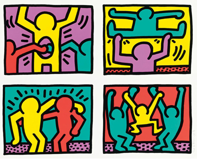 Keith HARING - Grabado - Pop Shop Quad I