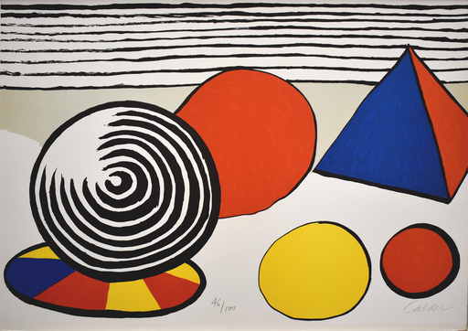 Alexander CALDER - Stampa Multiplo - Composition VII, from The Elementary Memory | La mémoire élé