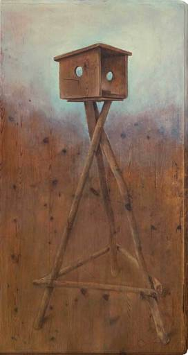 Christoph POGGELER - Peinture - Wolkenkuckucksheim