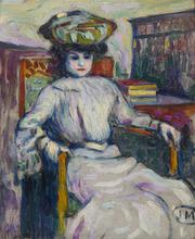 Jean METZINGER - Painting - Femme assise