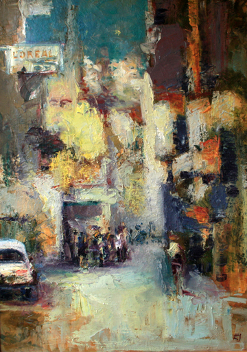 Levan URUSHADZE - Pintura - Spring in the city