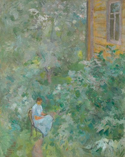 Robert Rafaelovich FALK - Painting - In the garden