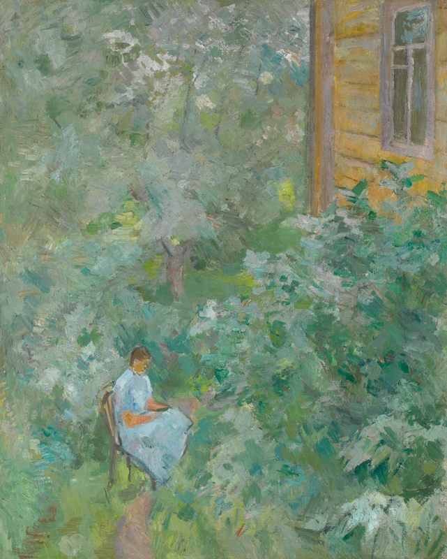 Robert Rafaelovich FALK - Painting - In the garden