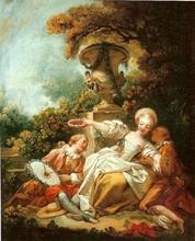 Jean-Honoré FRAGONARD - Painting - La coquette fixée