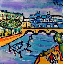 Jean-François BRAHIN - Peinture - PARIS - La seine au musée d'Orsay