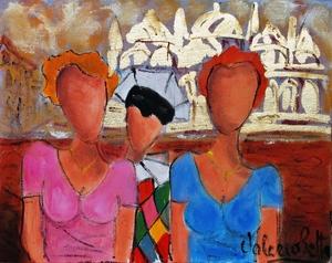 Valerio BETTA - Painting - Foto ricordo del carnevale di Venezia. Venice carnival
