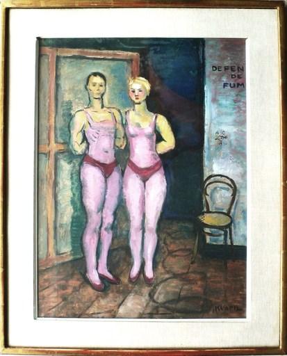 Charles KVAPIL - Pintura - Au cirque