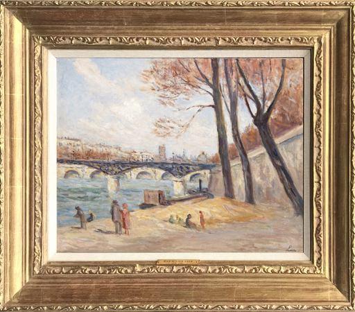Maximilien LUCE - Painting - Le Pont Des Arts, 1930