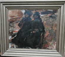 Isaac Lazarus ISRAELS - Painting - winter scene