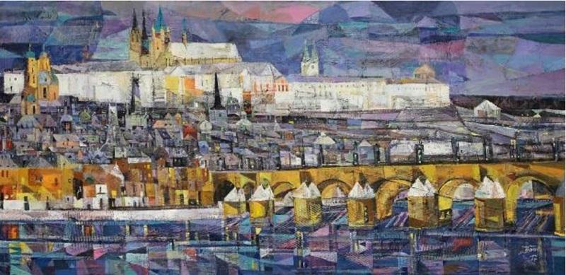 Iris BAND - Painting - Ansicht von Prag