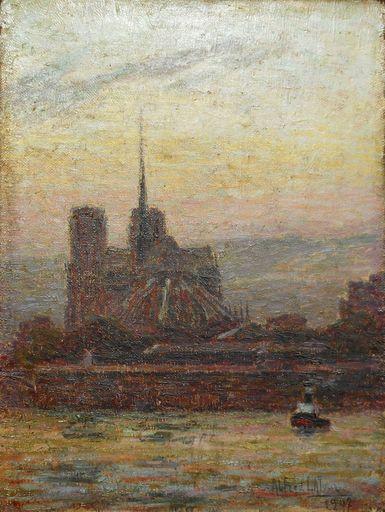 Alfred LATOUR - Painting - ROUEN -la SEINE - la CATHEDRALE