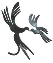 Menashe KADISHMAN - Painting - Peace Doves