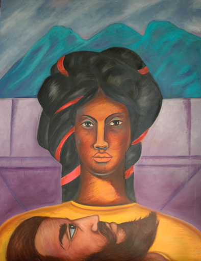 Armando CAMPERO - Painting - The Head of John the Baptist