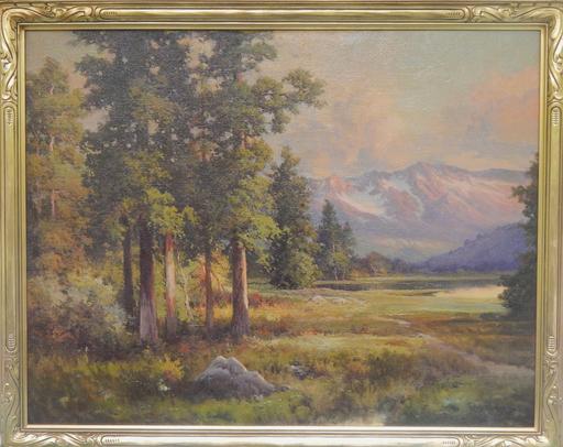 Robert William WOOD - Pittura -  Sunset in the Sierra's (California) 1942