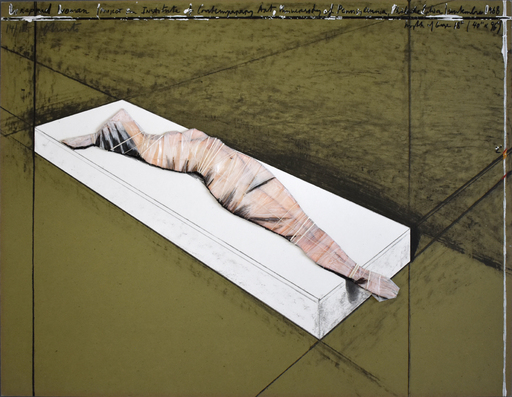 CHRISTO - Estampe-Multiple - Wrapped Woman, Project for the Institute of Contemporary Art