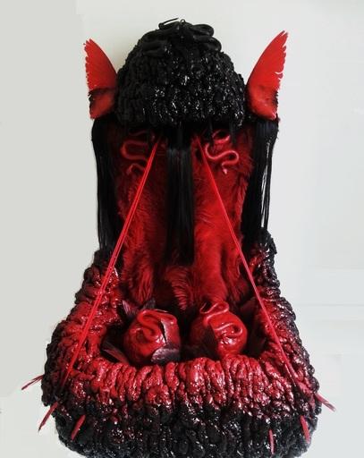 PASTURO - Sculpture-Volume - Autel Noir aux Animaux