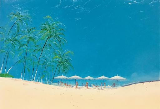 Rusiko CHIKVAIDZE - Peinture - Palms on the Beach