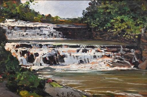 Lorenzo DELLEANI - Painting - Torrente Oremo, Biella