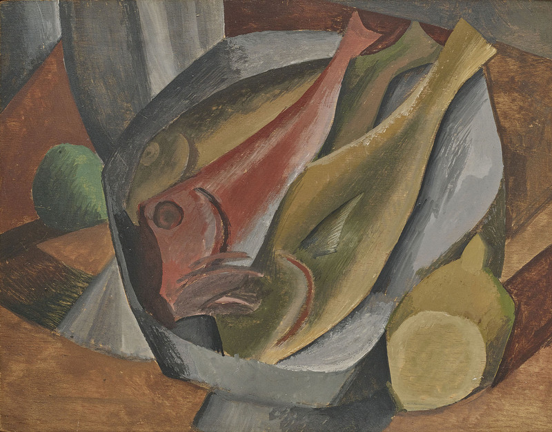 Pablo PICASSO - Drawing-Watercolor - Les poissons
