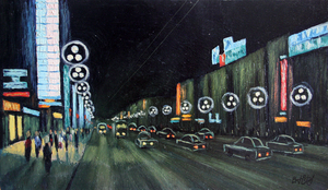 Valeriy NESTEROV - Painting - Nevskiy prospekt. Leningrad