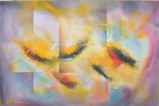 Romeo DOBROTA - Painting - The Night Surrenders,