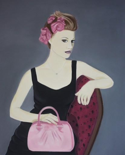 Eva Janina WIECZOREK - Gemälde - Die Dame mit der Tasche