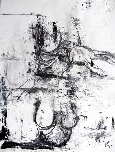 Guillaume KALT - Pintura - La femme et la chèvre    (Cat N° 6153)