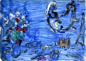 Marc CHAGALL - Estampe-Multiple - Bird-Woman | Femme-oiseau