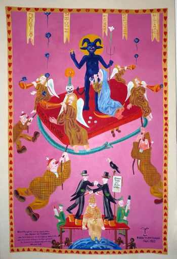 Blalla W. HALLMANN - Gemälde - Liebet Eure Feinde