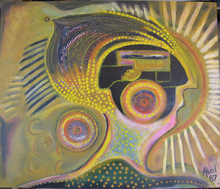 Abol ATIGHETCHI - Gemälde - AZTEK 1