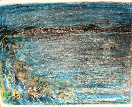 André COTTAVOZ - Drawing-Watercolor - La baie