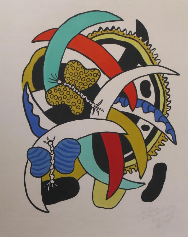 Fernand LÉGER - Stampa-Multiplo - *Le Papillion