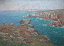 Alfred MARZIN - Peinture - Côte en Bretagne