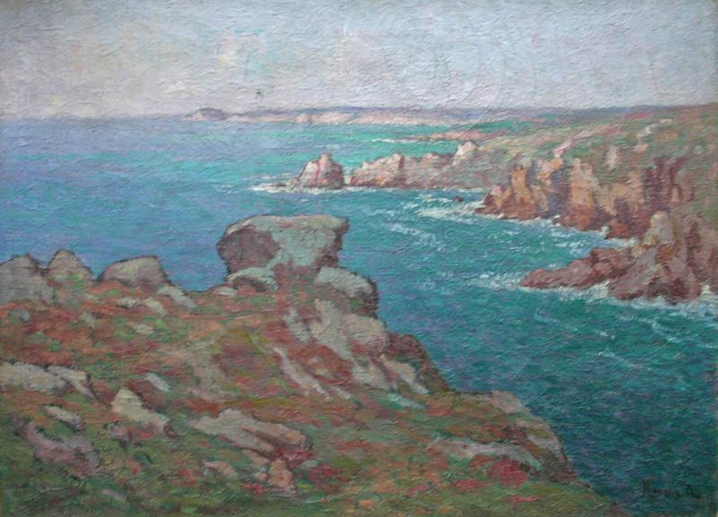 Alfred MARZIN - Pintura - Côte en Bretagne