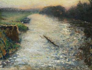 Emilio BOGGIO - Painting - Les canotiers sur l'Oise